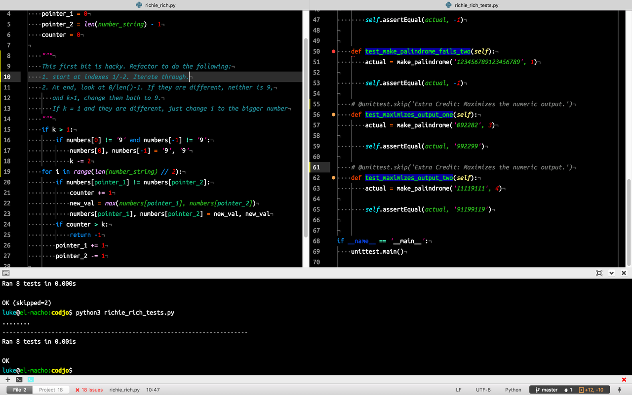 My dev environment - Atom, terminal-plus, Neon Color Scheme