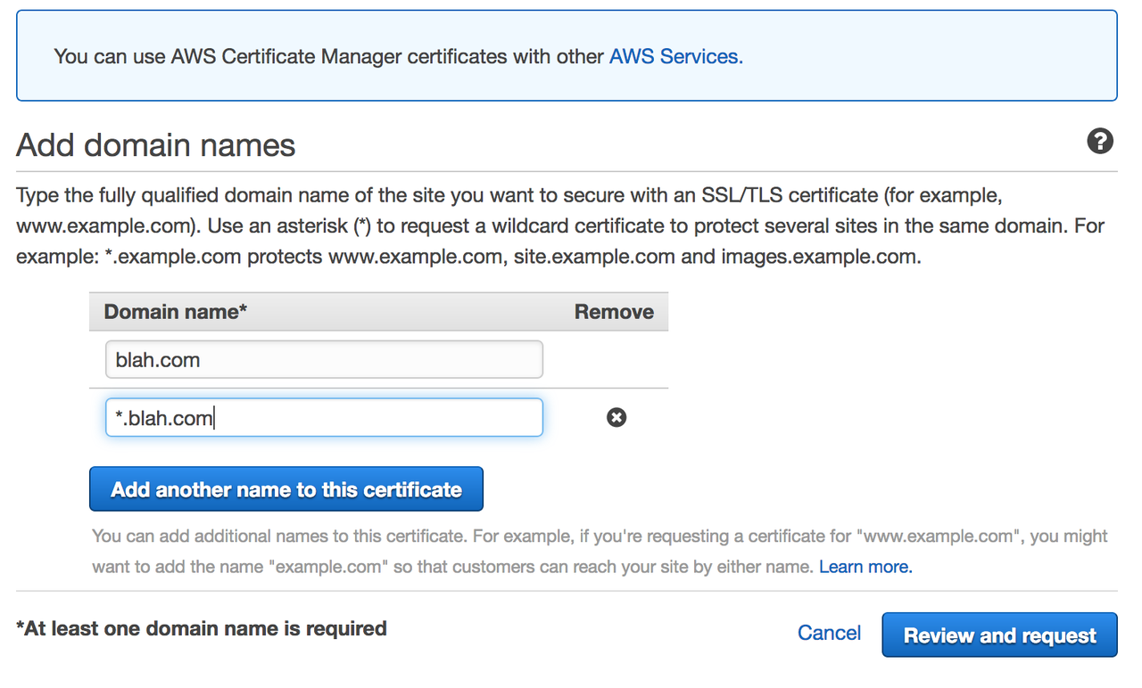 request your ssl cert